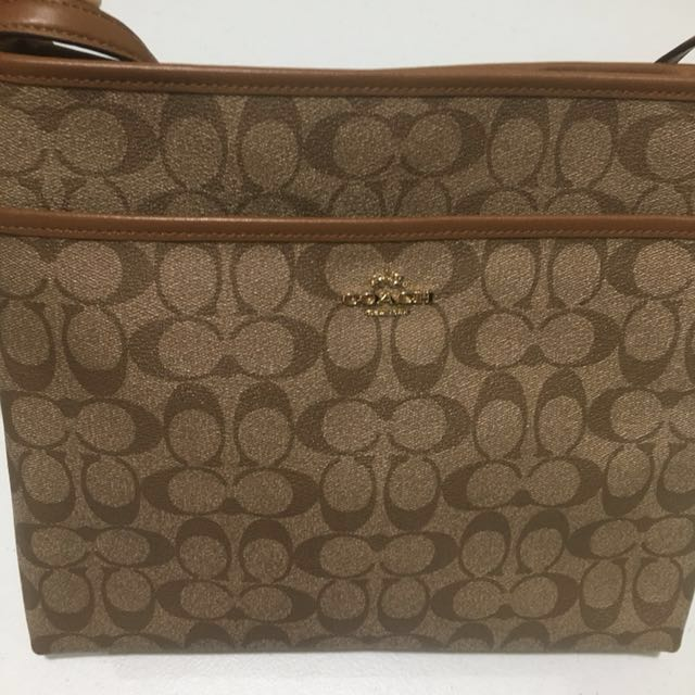 Authentic Coach Signature Sling File Bag F58297