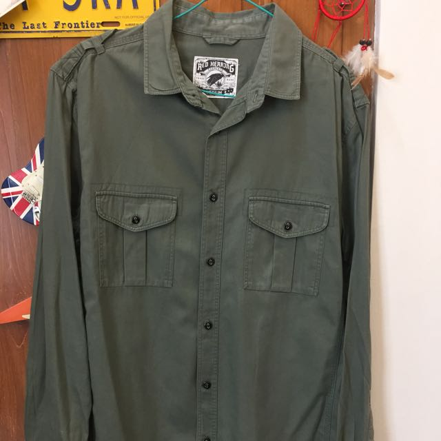 Authentic Red Herring Army Work Shirt