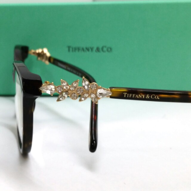 57cc11fa2912 Authentic Tiffany   Co Spectacles TF2144HB 8319 Crystal Temples ...