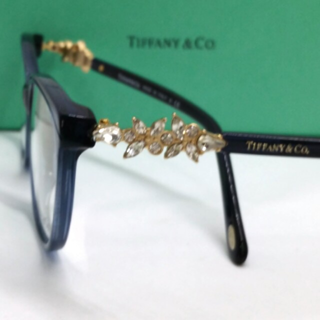 70918b137b2d Authentic Tiffany   Co Spectacles TF2144HB 8323 Crystal Temples ...