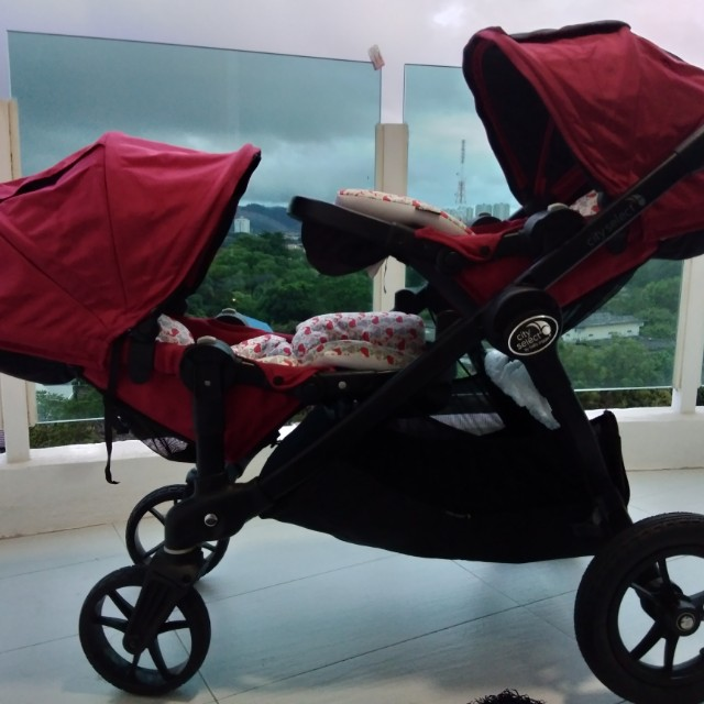 Baby Jogger City Select With Second Seat Stroller Red