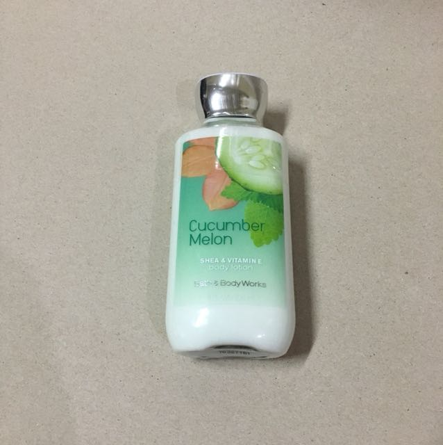 bath and body cucumber melon lotion