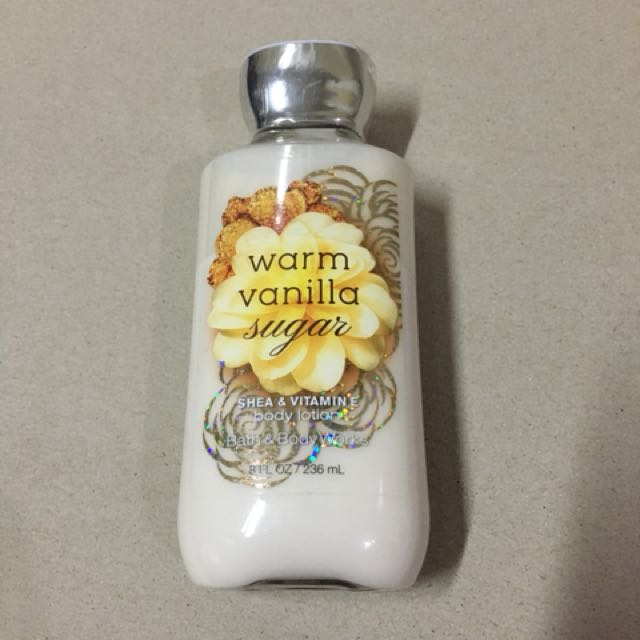 bath and body warm vanilla lotion