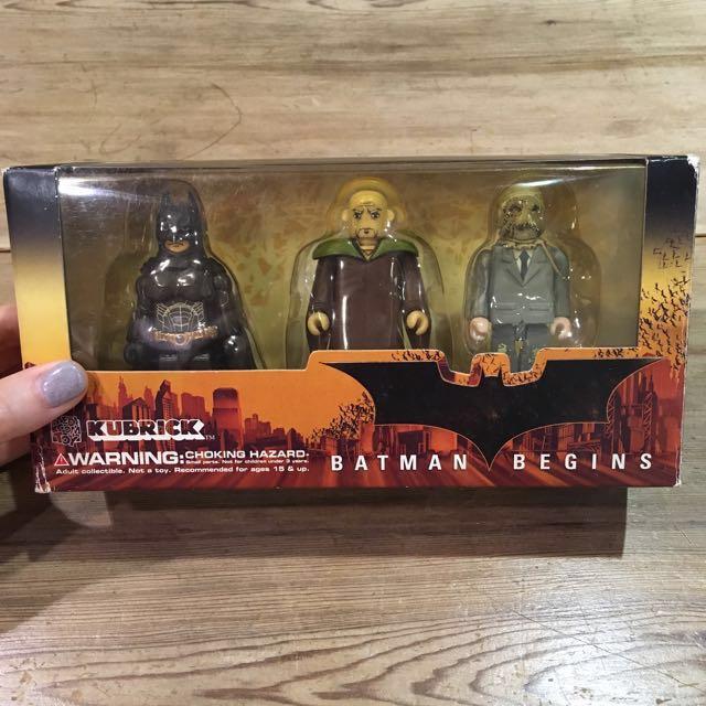 BATMAN BEGINS KUBRICK 蝙蝠俠 忍者大師 稻草人