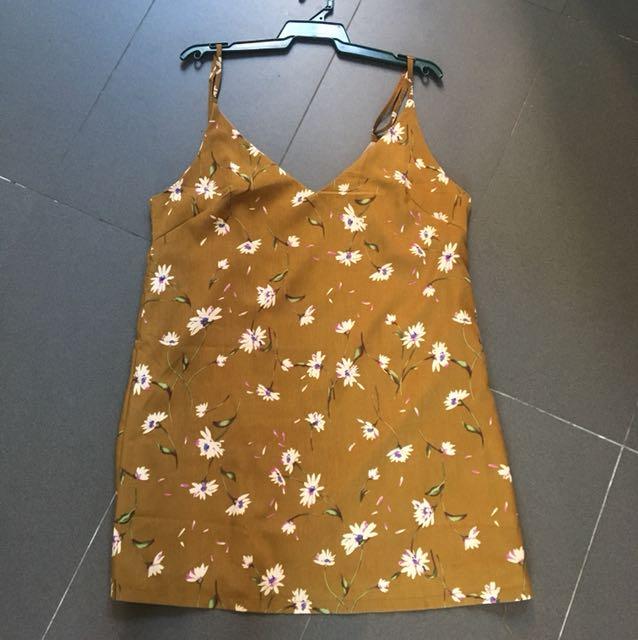 Beginning boutique Floral Slip Dress sz L
