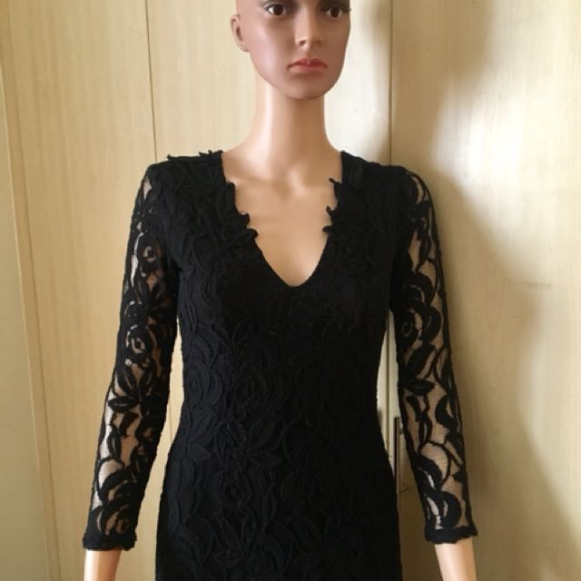 Black lace gown for rent only