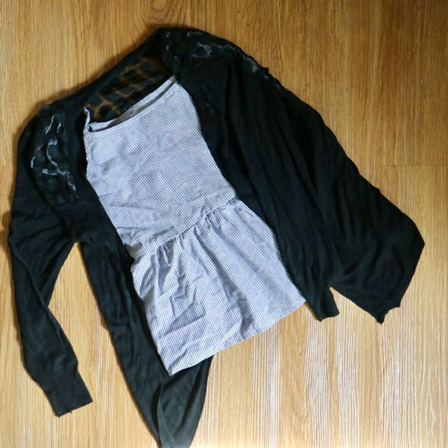Black see-through Cardigan (top sold separately)