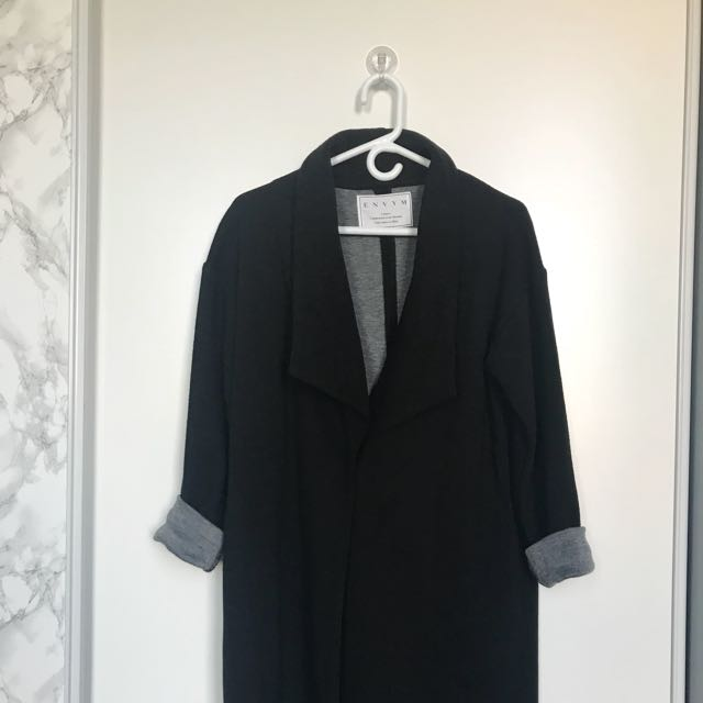 Black/grey long coat/cardigan