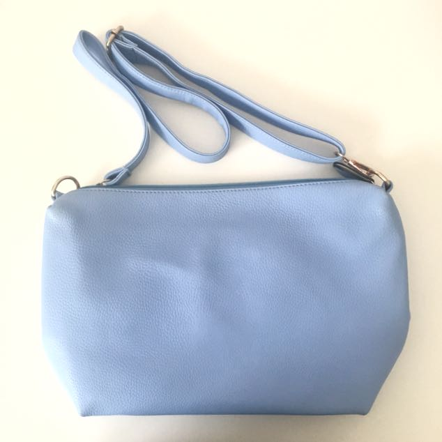 Blue Pebbled Bag