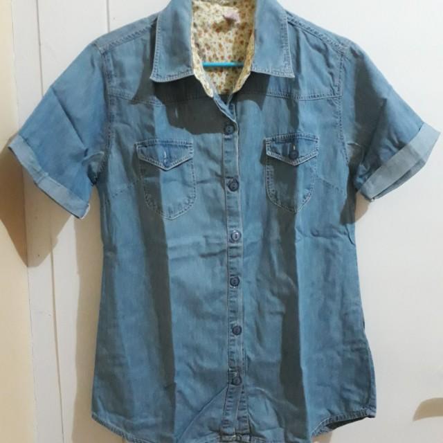 Blue denim shirt 'chila'