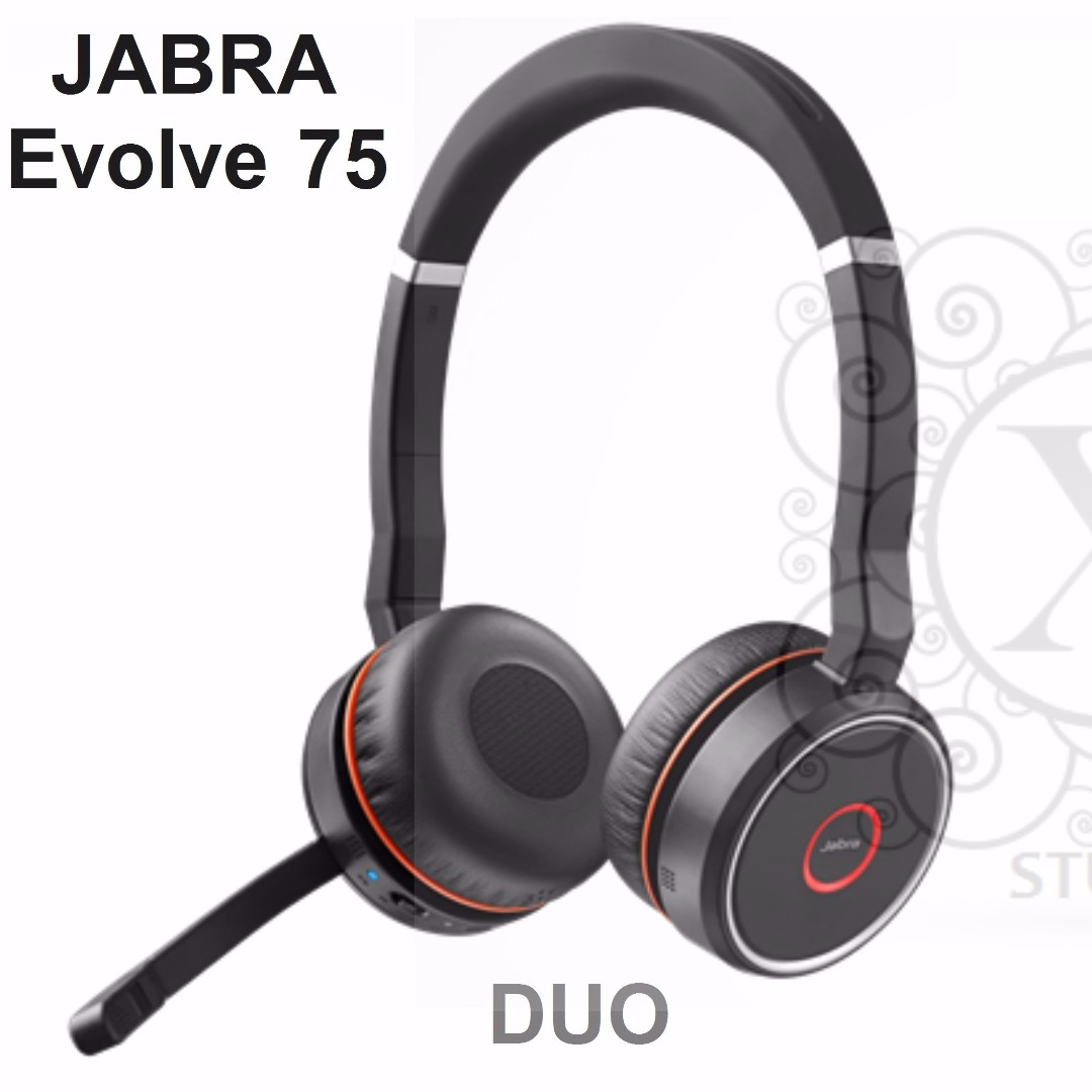 Bnew JABRA Headsets (EVOLVE Series- Evolve 75-DUO)