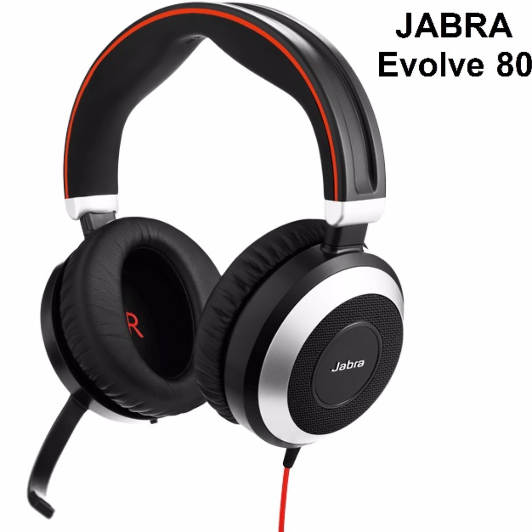 Bnew JABRA Headsets (EVOLVE Series- Evolve 80-DUO)