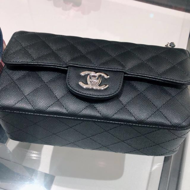 6ccc7f28d3e05f BNIB Chanel Mini Rectangular in matte black caviar leather with SHW,  Luxury, Bags & Wallets on Carousell