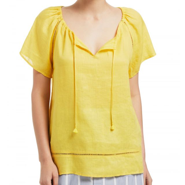 BNWT - Sussan Linen Top - Size 8