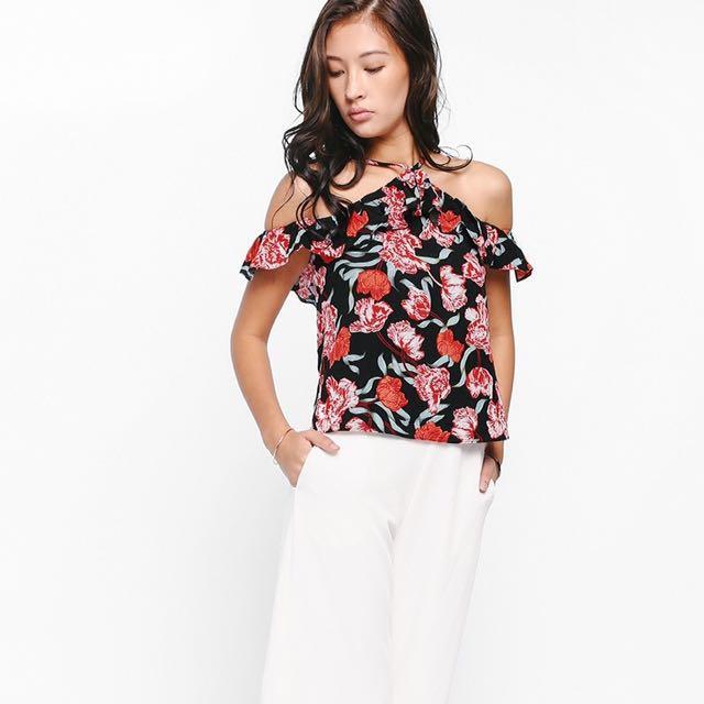 3da7b20f5e995e BNWT Love Bonito Hayne Floral Off Shoulder Top