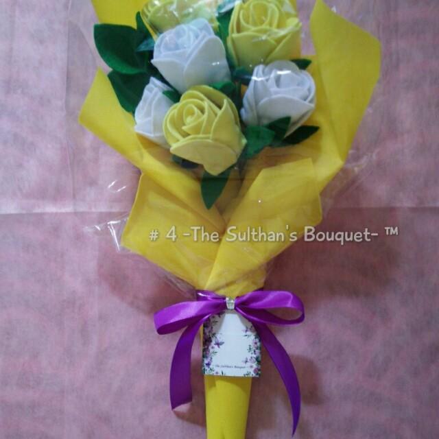 Bouquet Bunga Flanel / Buket Bunga Flanel / Flanel Flower Bouquet