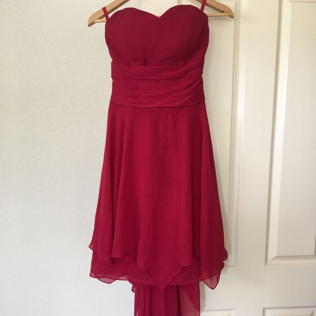 Burgundy Chiffon Ball Dress