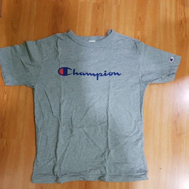 025e0601 Champion Heritage Tee Grey L, Men's Fashion, Clothes on Carousell