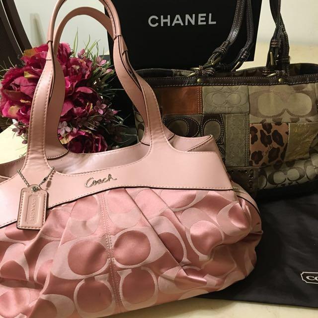 Chanel肩背包(正品)+加贈Chanel咖啡色肩背包(正)