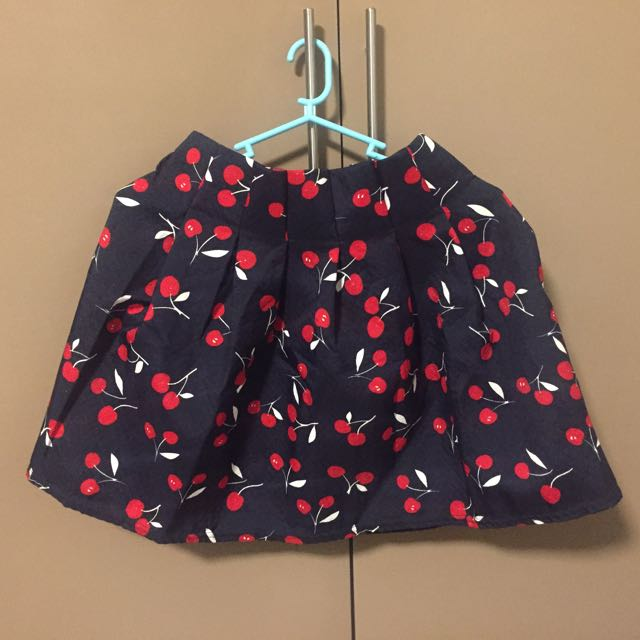Cherry-Printed Skirt