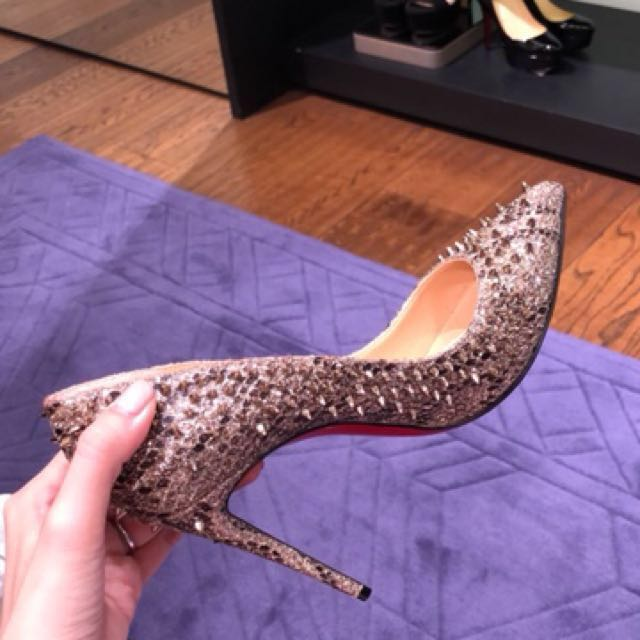 reputable site 84d6f 66a8a Christian Louboutin Escarpic 100 Spiked Pump, Luxury ...