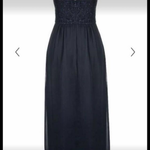 City chic navy long dress