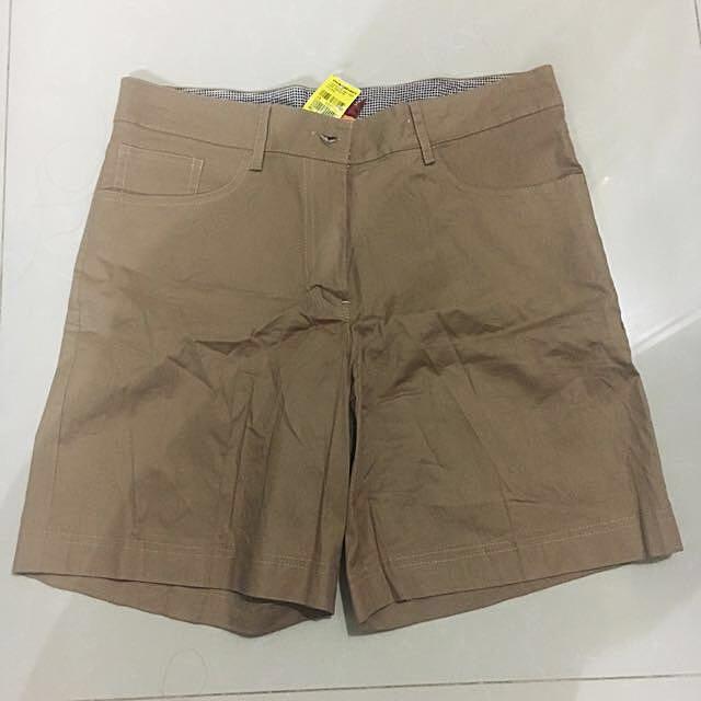 CONNEXION Brown Shorts