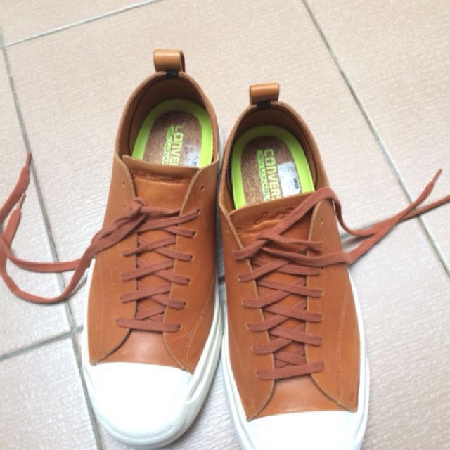 Converse Jack Purcell M-series Ox Alpine Leather Brown, Men's Fashion, Men's Footwear on Carousell