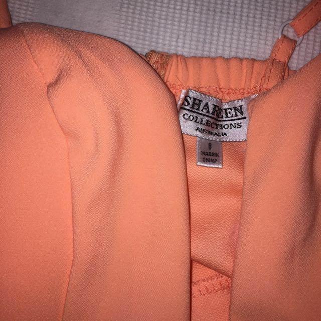 Coral Pinky Orange Playsuit