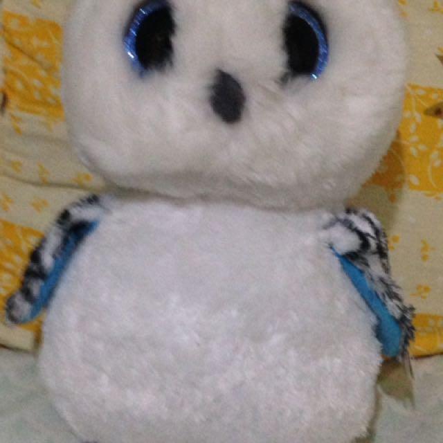 Cute white owl plush stuff toy