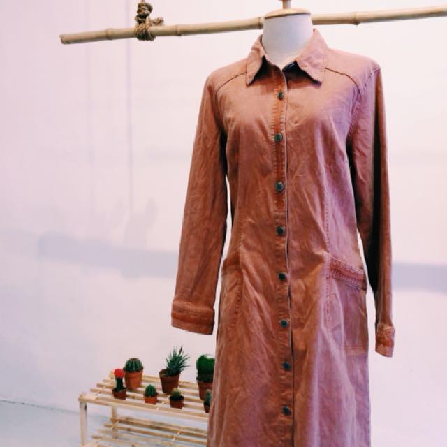 [D07] Vintage Long Blouse