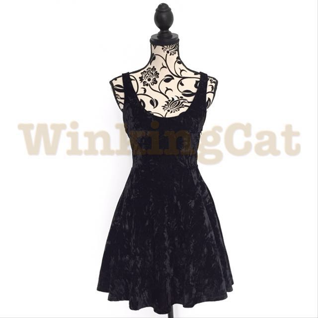 (D155)Vintage Velvet Dress