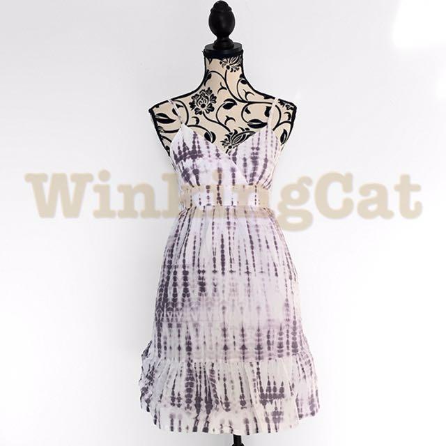 (D159)Vintage Tie Dye Dress