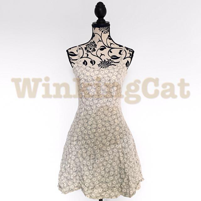 (D160)Vintage Floral Dress