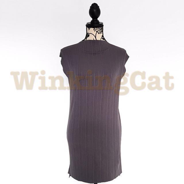 (D161)Vintage Ribbed Dress