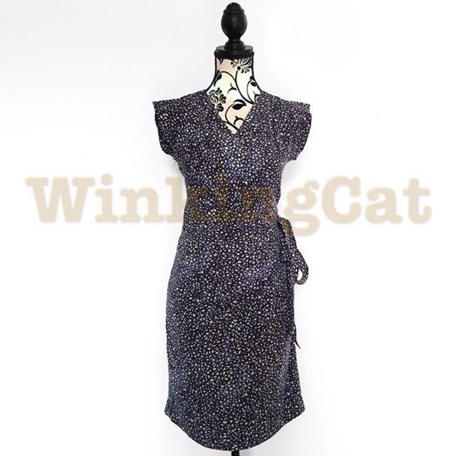 (D164)Vintage Wrap Dress