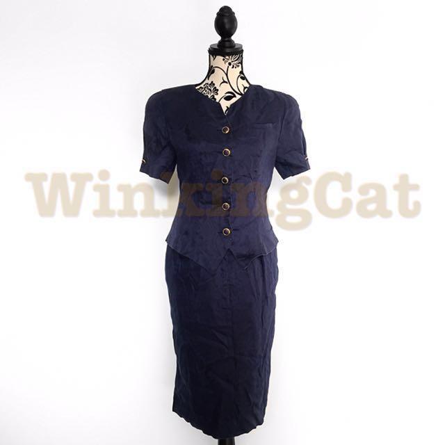 (D165)Vintage Jacket Dress