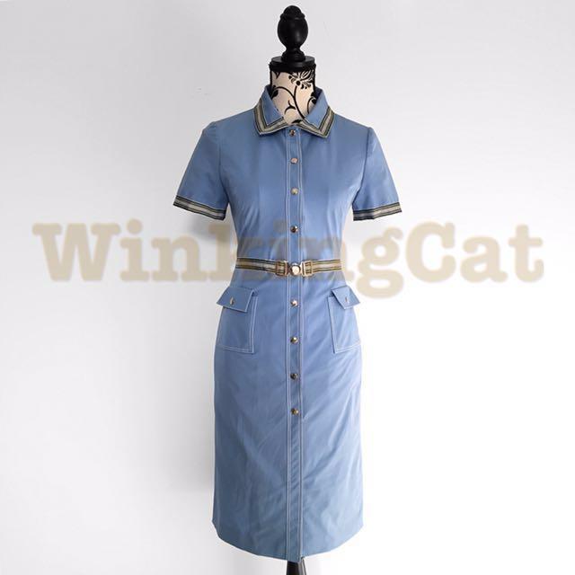 (D171)Vintage Shirt Dress