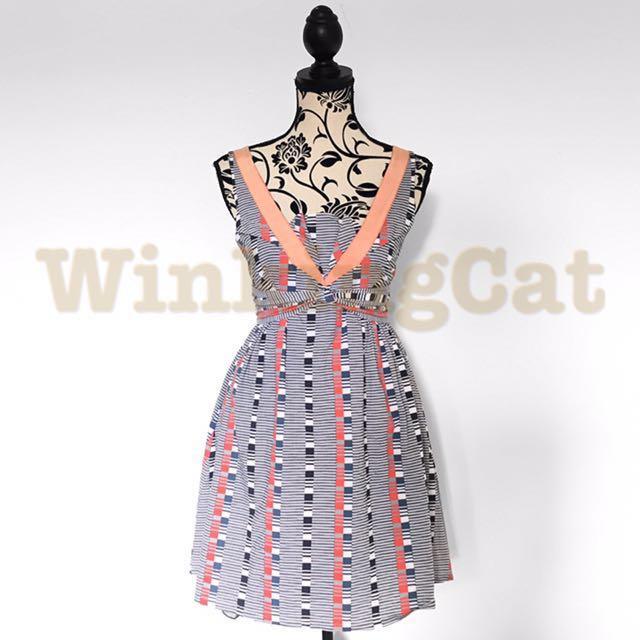 (D178)Vintage Structured Dress