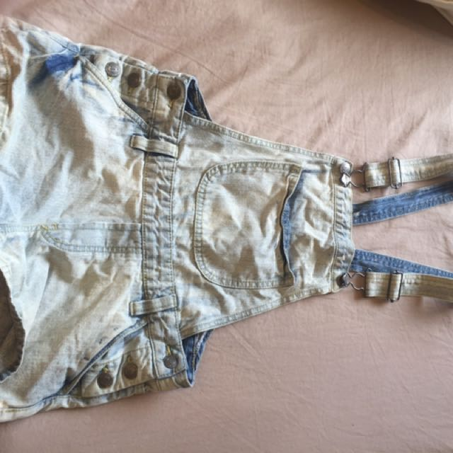 Denim Overalls- SMALL
