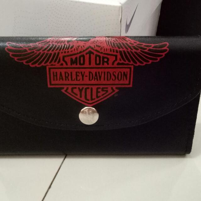 dompet wallet harley davidson leather kulit