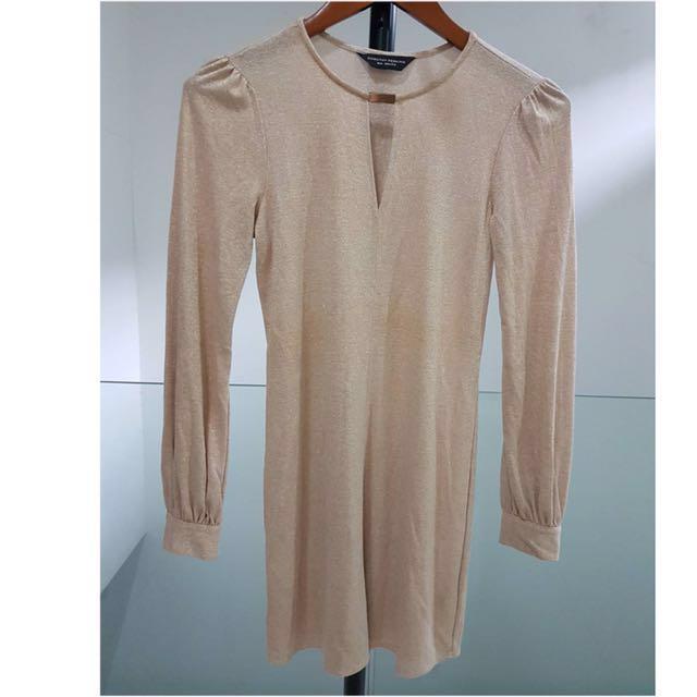 Dorothy Perkins Gold Dress