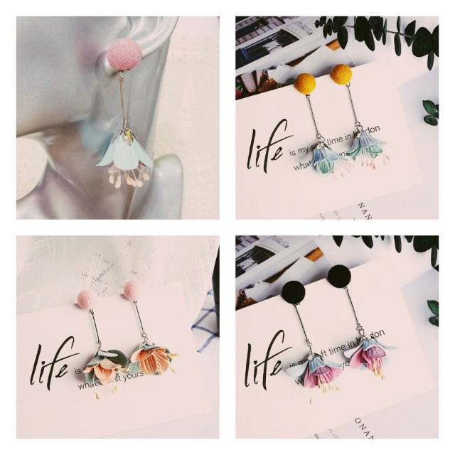 """[MerryCharms.com/Day 2] DY2102 """"Flower Sweet Story"""" Earrings"""