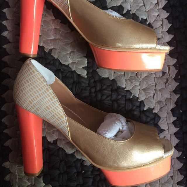 Electric Orange Heels by Noche