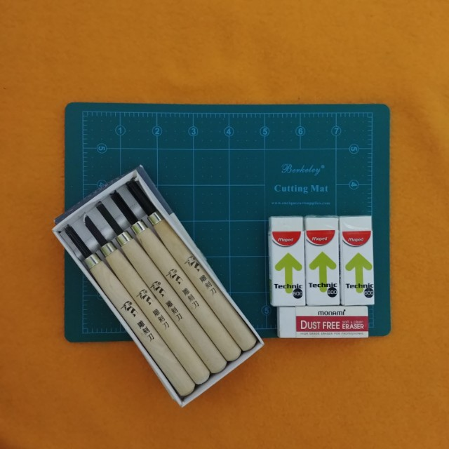 Eraser Carve Stamp Making Kit Design Craft Supplies Tools On Carousell