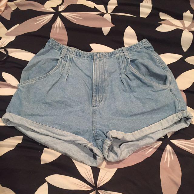 Factorie denim mom shorts size 8
