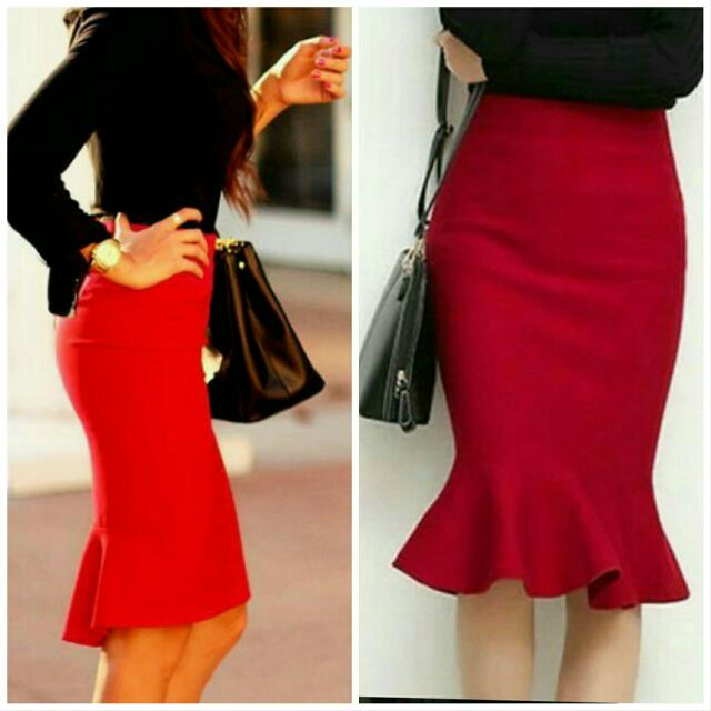 Flare Skirt Red