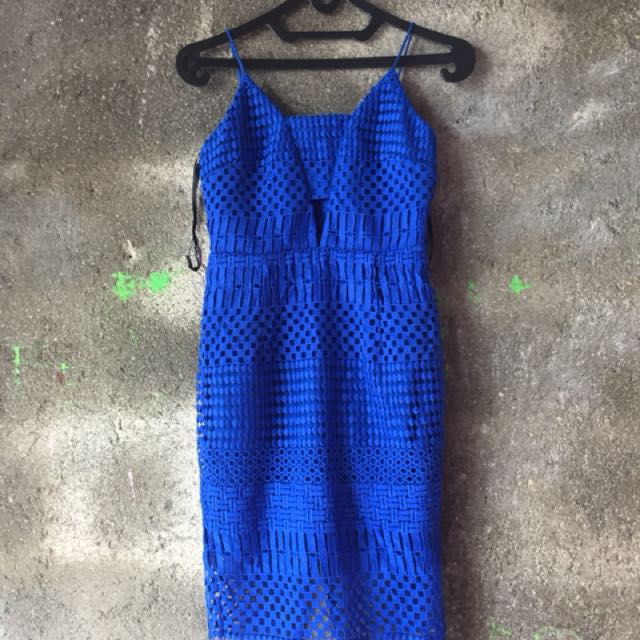 Forever New Electric Blue Mini Dress