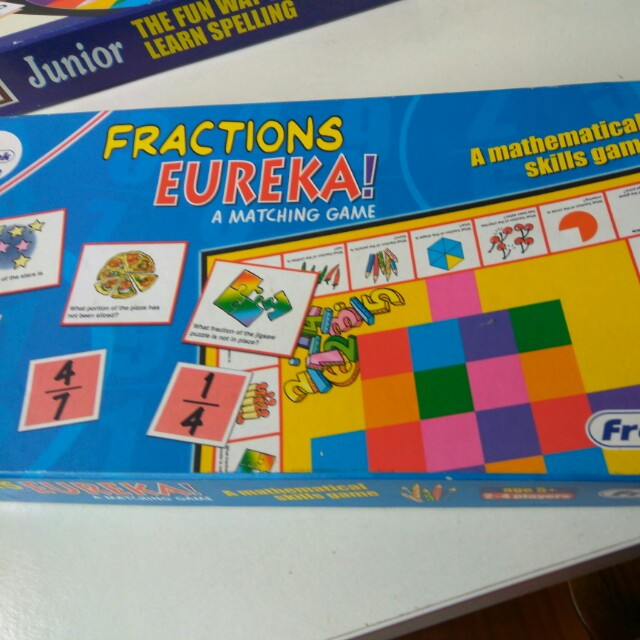 Fractions eureka! Math iq game frank product, Toys & Games
