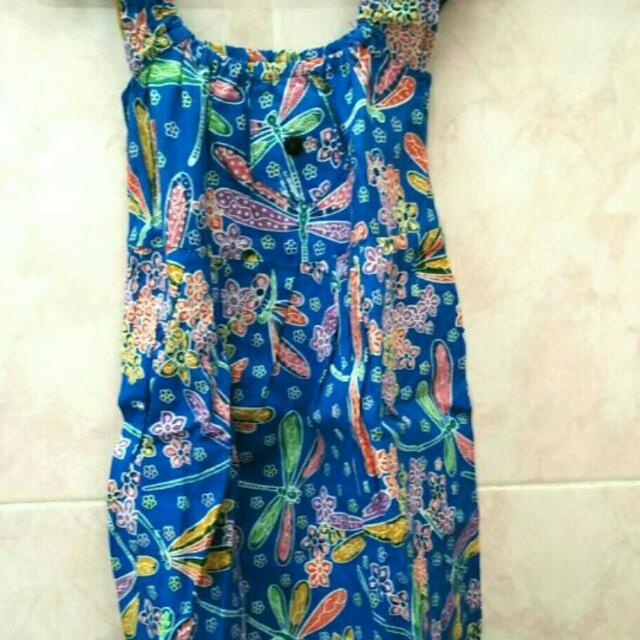 Free Ongkir Jabodetabek Simple Dress Batik Anak